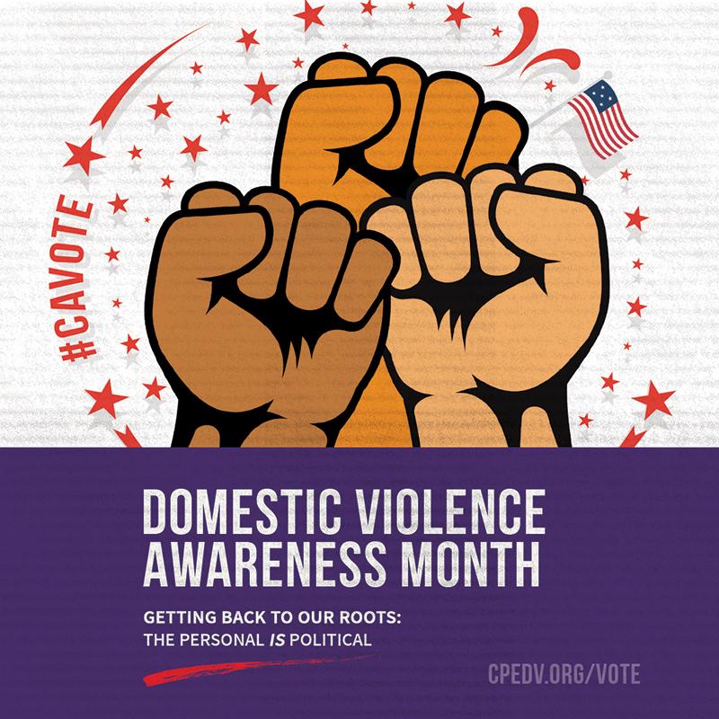 domestic violence awareness month 2018 vote california