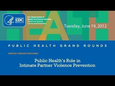 Breaking the silence – public health's role in intimate partner violence prevention