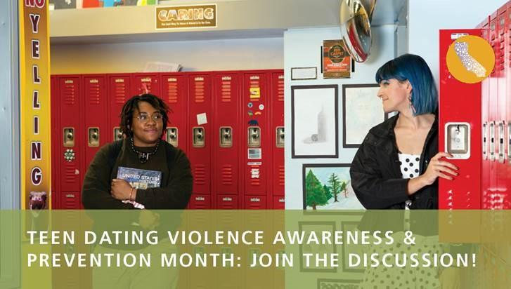 TDVAM Webinar Announcement - two youth in hallway by lockers.